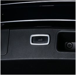 Wholesale porsche switch - Car Styling Trunk Switch Button Frame Decorative Cover Trim ABS Interior Accessories 3D Sticker For Porsche Panamera Macan