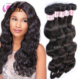 Armadura de cabelo de 26 peças on-line-Extensões indianas do cabelo humano do Weave do cabelo humano do Virgin da onda do corpo de XBL 3/4 de Weave do cabelo humano das partes