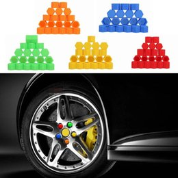 Wholesale car bolts - 20Pcs 19mm Silicone Hexagonal Socket Car Wheel Hub Screw Cover Nut Caps Bolt Rims Exterior Decoration & Protection CDE_00B