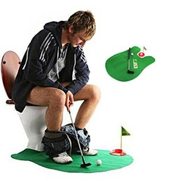 Wholesale Toilet Toys - Wholesale- CL Fun Potty Putter Toilet Golf Game Mini Golf Set Toilet Golf Putting Green Novelty Game Toy Gift For Men and Women