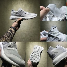 Wholesale Mens Pure White Shoes - Wholesale 2017 Original Y3 Pure Boost ZG Kint Running Shoes Perfect Boost Triple White Black Mens Womens Sneakers With Box Free Shipping
