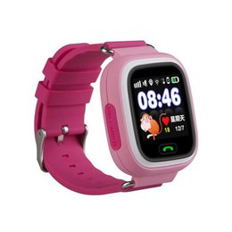 Wholesale Vehicle Security - Q90 Wrist Watch Tracking Smartwatch GPS SIM Card Anti-Personnel Reminder Touch Screen SOS Call Kid Security Anti-Lost Monitor 1pc