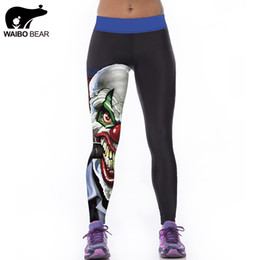 леггинсы для женщин Скидка Wholesale- New Arrival 2016 3D Printed Cartoon Pattern Fashion Women Mid Elastic Leggings Fitness Sexy Pants WAIBO BEAR