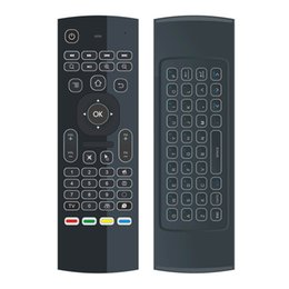 Wholesale Sensor Xbox - Wholesale- Backlit MX3 Remote Control G Sensor QWERTY 2.4Ghz Wireless backlight Mini Keyboard Air Mouse MX3-Lfor Android TV Box XBox Laptop