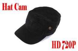 Wholesale Hat Spy Camera Hd - HD 1280x720 Spy Hidden Hat Camera Wearable Covert Cap Camera Spy Cap Camcorder Video Recorder Mini Cap DV with remote control