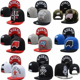 Wholesale Trukfit Hats For Free - Hiphop Baseball Cap Trukfit Snapback Sport Fitted Hat Skate Hats Snapbacks Snap Back Cap Mixed for Men Women Valentine Caps DHL Free