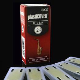 Wholesale Vinyl Boxes - Wholesale- Free Shipping RICO Plasticover Alto Eb Vinyl waterproof Sachs reed 2#,2.5#, 3.0#,3.5# Box of 5