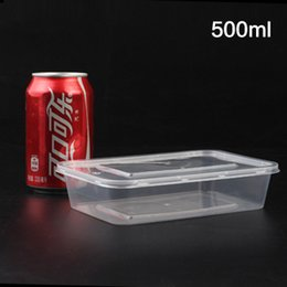 Wholesale Food Grade Packaging Materials - New High Quality Disposable Lunch Box Package Delivery Snack Box Food Grade PP Pnvironmental Protection Material 500pcs Lot