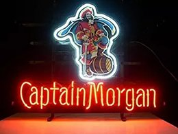 Wholesale Neon Bar Sign Captain Morgan - New Larger Captain Morgan Rum Neon Light Sign 20''x16''