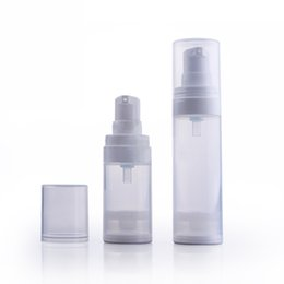 Wholesale 15ml Airless Container - 20pcs 30ml 15ml Airless Bottle Pump Vacuum Small Empty Plastic Portable Essence Perfume Bottles Cosmetic Sample Containers EB114