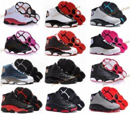 Wholesale Round Leather Lace - Cheap Children Athletic Retro Boys Girls 13 XIII Sneakers Youth Kids Sports Basketball Sneakers Shoes For Sale EU28-35