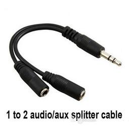 2019 enchufes de banana envío gratis Cable de conversión de audio de 3,5 mm macho a hembra para auriculares Cable divisor de adaptador de audio para iPod iPhone iPad