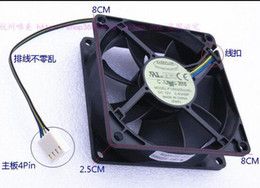 Wholesale Computer Fan Temperature - Genuine EVERFLOW 8025 8CM F128025SU 12V 0.40A 4 wire temperature control fan