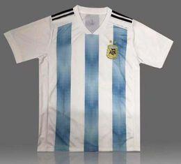 Deutschland 2018 Weltmeisterschaft Argentinien Fußballtrikot 2018 Argentinien Home Blaues Hemd Messi Agüero Di Maria Uniform Outdoor T-Shirts Versorgung
