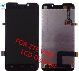 Wholesale Zte Grand X Screen - Wholesale- New Original ZTE V987 LCD Screen Digitizer+Touch Screen For ZTE V987 ZTE Grand X V987 Quad LCD Screen + Free Shipping