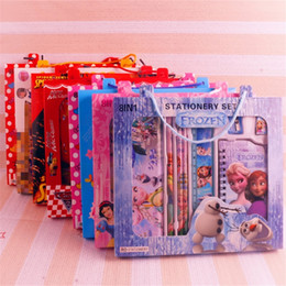 Wholesale Kids Stationery Gift Sets - Frozen Stationery Sets Pencil Case Cartoon Spider-Man Cars Mickey Stationery Cases Children Student Study Supplies Kids Learning Toys Gifts