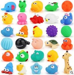 acabar brinquedo de música Desconto Venda por atacado Brinquedos Do Banho Do Bebê Spray De Água Flutuante Squeaky Brinquedos Do Chuveiro Amarelo Patos Animais De Borracha De Borracha De Água Banho Brinquedos Frete Grátis