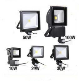Wholesale Pir Rgb - PIR Infrared Motion Sensor led floodlight 110-265V Waterproof 10W 20W 30W 50W COB IP65 led Flood Light for led spotlight outdoor Lights MYY