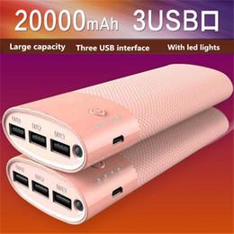 Wholesale External Power Supplies - NEW Free DHL Battery charge Power Bank 20000mAh powerbank External Battery power supply mobile charger for mobile phone