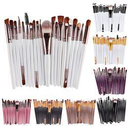 Wholesale Eyebrow Tools - Professional 20pcs Makeup Brushes Set Cosmetic Face Eyeshadow Brushes Tools Makeup Kit Eyebrow Lip Brush