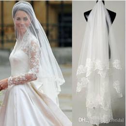 Wholesale Ivory Wedding Headpieces - Romantic 2017 Headpiece Bridal Face Veils Tiaras Tulle Cheap Headwear White Ivory Wedding Veil Hair Accessories Blush Bridal Accessories