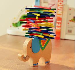 Wholesale Wooden Balance - Baby Toys Educational Elephant Camel Balancing Blocks Wooden Toys Beech Wood Balance Game Montessori Blocks Gift For Child