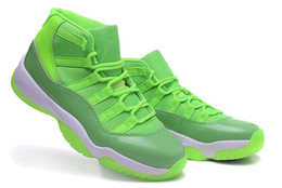 Wholesale Bright Pig - Air 11 XI Retro Green Bright White Women Basketball Shoes AAAA High Quality Wholesale Size USA 5.5 8.5 GS Sneakers With Box