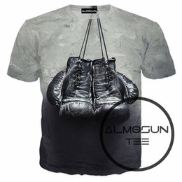 Wholesale Hooded Gloves - Wholesale- ALMOSUN Boxin' Gloves Suicide Squad 3D All Over Print T Shirts Sportwear Short Sleeve Hipster Shirts Hip Hop Tee Unisex