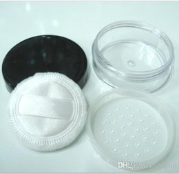 Wholesale Making Clear Plastic - 20G Portable Empty Clear Make-up Powder Container With Sifter and Black Screw Lid 20ml Loose Powder Jar Pot Box Case