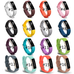 Wholesale Silicone Wristband Strap - Hot Sales! Silicone Replacement Straps Band For Fitbit Alta Watch Intelligent Neutral Classic Bracelet Wrist Strap Band With needle Clasp