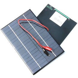 Wholesale 12v Clips - NEW 4.2W 18V Solar Cell Polycrystalline Solar Panel+Crocodile Clip For Charging 12V Battery Solar Charger 200*130MM FreeShipping