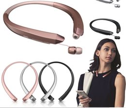 Wholesale New Sports Earphones - New HBS-910 HBS 910 CSR 4.0 Tone Infinim Wireless Bluetooth Headphones Sports Neckband Earphone Handsfree HBS910 for iphone7