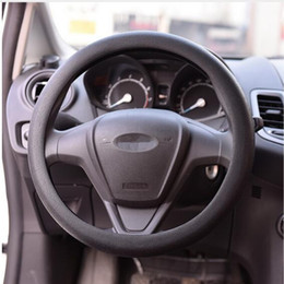 Wholesale Steering Wheel Skins - Universal Car Cover Auto Silicone Steering Wheel 36-38cm Diameter Soft Crocodile Texture and skin Texture Car Accessories