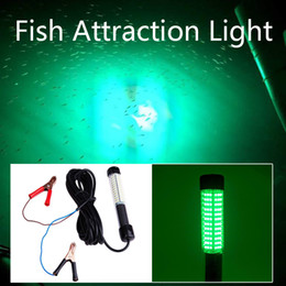 Wholesale Deep Water Fishing Lights - DC 12v 8W 5M deep sea water night led fish attracting underwater fishing light squid fishing lamp