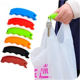 Wholesale Free Groceries - Silicone Shopping Bag Basket Carrier Grocery Holder Handle Comfortable Grip Grips Effort-Save Body Mechanics Multi Color Free DHL XL-G189