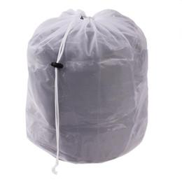 Wholesale Laundry Net Fabric - Laundry Bag Clothes Washing Machine Laundry Bra Aid Lingerie Mesh Net Wash Bag draw cord