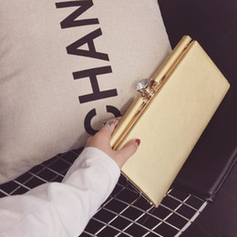 Wholesale Elegant Clutches - Elegant retro Clutch bag 2016 Fashion Brand Designer Women Handbags CrossBody Shoulder Bags High Quality Ladies Handbag Evening Bag Purse
