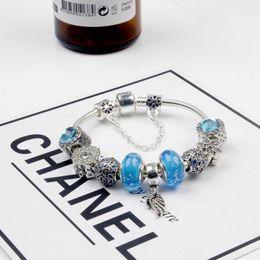 Wholesale Free Pandora Bracelets - Glass diy pendant charm beaded bracelets for women pandora bracelets 2017 hotsell free shipping whosale bracelets