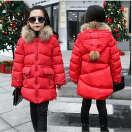 Wholesale 13 Years Kids Clothes - Jacket For Girls 5 6 7 8 9 10 11 12 13 14 Years Teenagers Autumn Winter Warm Baby Girl Coat Kids Teens Clothes Children Clothing