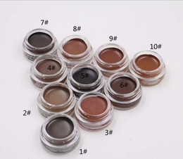 Wholesale eyebrow color cream - Eyebrow Gel Eyebrow Enhancers Makeup Eyebrow 8 Colors With Retail Package