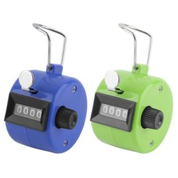 Wholesale Free Counters - Wholesale- 1Pc Golf Handheld Manual 4 Digit Number Tally Counter Clicker Free Shipping Hot Worldwide