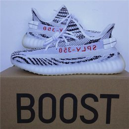 Wholesale French Tables - Free Shipping 2017 New Boost French Monta SPLY 350 V2 Zebra Men And Women Running Shoes Zebras Bred Oreo Beluga Sneakers New In Box
