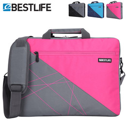 Wholesale Female Laptop Handbags - Wholesale- BESTLIFE Laptop canvas bag Business Briefcase Bag Tablet Business Handbags crossbody bags For Men Female Unisex Shoulder Bag