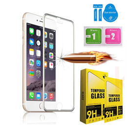 Wholesale Iphone Design Screen Protector - Tempered Glass Full Cover Screen protector Ultra-Thin 3D Curved Edge Titanium Alloy Design For iphone8 7 plus 6s 6plus 5 5s