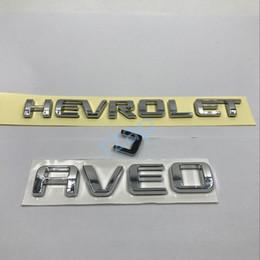 Wholesale Chevrolet Emblems Badges - Car Rear Trunk For Chevrolet Aveo Lettering Emblem Logo For Chevy Auto 3D Silver Badge Sticker