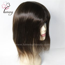 Wholesale Blonde Men Wigs - Top Quality Indian Human Hair Micro Thin Skin PU Toupee for Men and Women