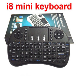 Wholesale Cheap Mini Wireless Mouse - Cheap Wireless Keyboard rii i8 Mini keyboards Fly Air Mouse Multi-Media Remote Control Touchpad Handheld for TV BOX Android MXQ Pro