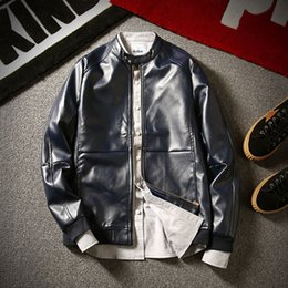 Wholesale Cheap Leather Motorcycle Jacket - Men Oversized Leather Jacket Male Luxury Brand Men Jacket Famous Brand Cheap Leather Motorcycle Jackets