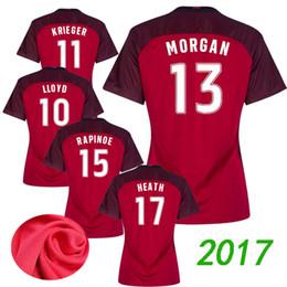 2017 EUA Qualidade MORGAN LLOYD PAPINOE HEATH KRIEGER camisola das mulheres  dos EUA uniformes Camisa do jérsei do futebol Camisa do bordado do futebol 5ec531c08d796