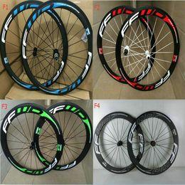 bicicleta de ciclocross de carbono Rebajas China Oem FFWD 50 mm ruedas de carretera de carbono ruedas clincher tubular mate brillante bicicleta Wheelset V freno pinza ruedas de bicicleta envío gratis